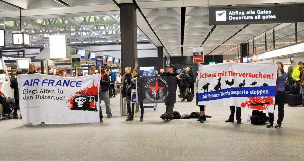 Kundgebung gegen Air France-KLM