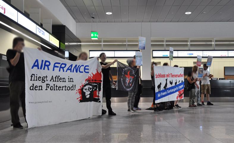 Kundgebung gegen Air France-KLM Zürich