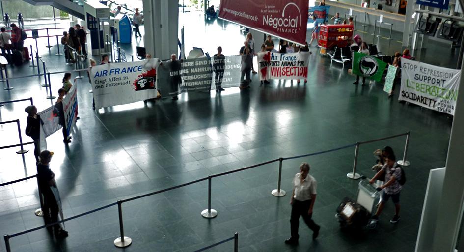 Kundgebung gegen Air France-KLM Basel