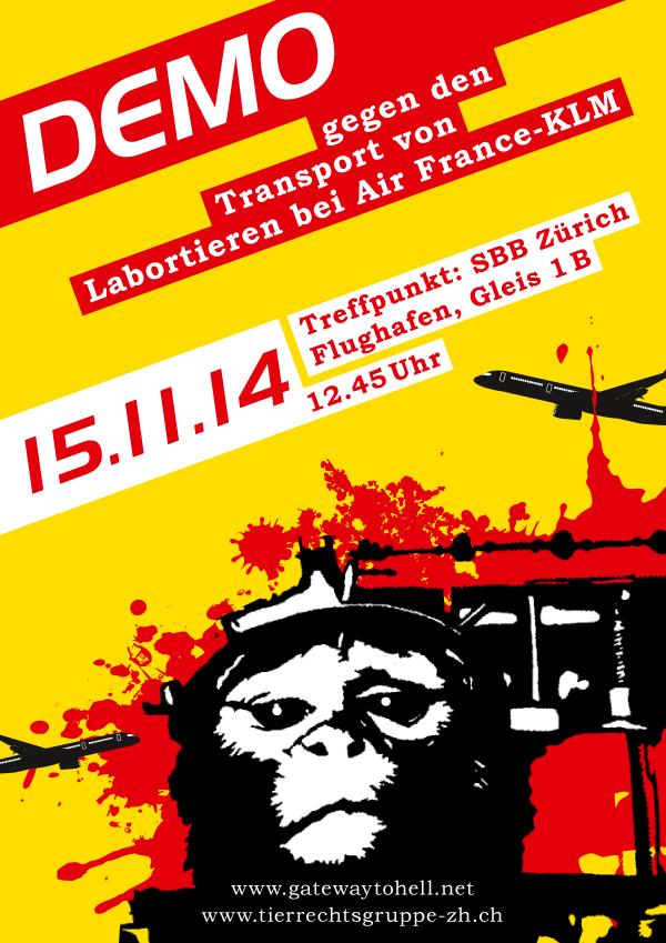 Demo gegen Air France-KLM Zürich