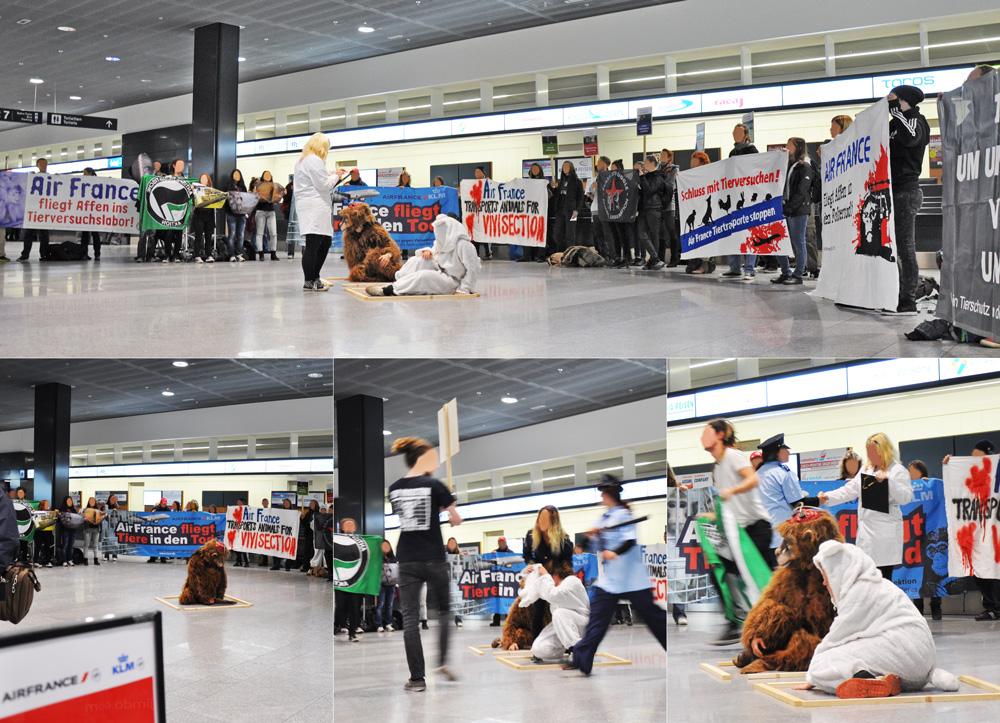 Air France Demo Flughafen Zürich
