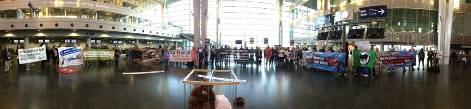 Demo gegen Air France-KLM Basel
