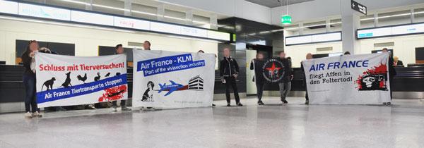 Air France Kundgebung Flughafen Zürich