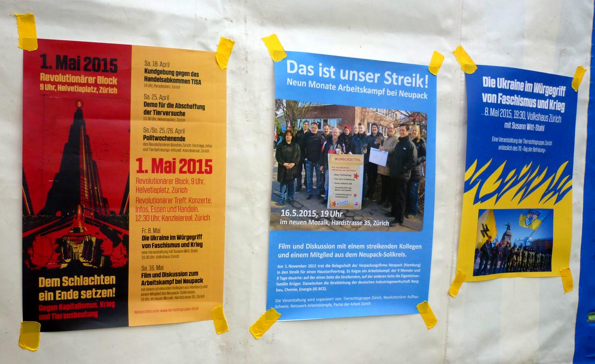Neupack Tierrechtsgruppe Zürich Ukraine 1 Mai 2015