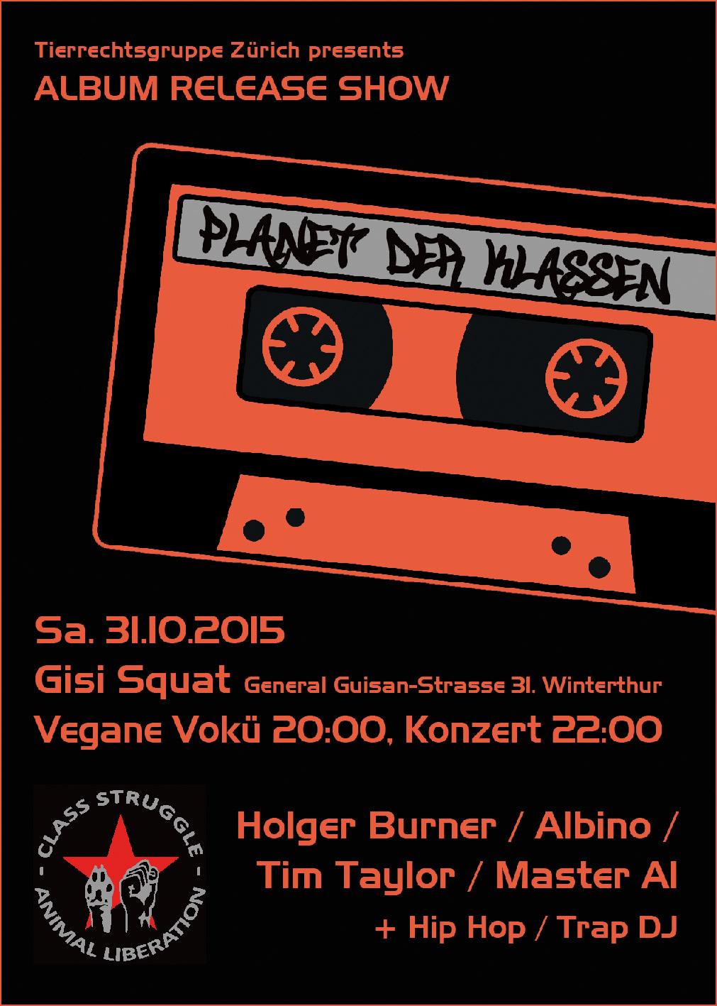 Konzert Holger Burner Albino Winterthur Planet der Klassen