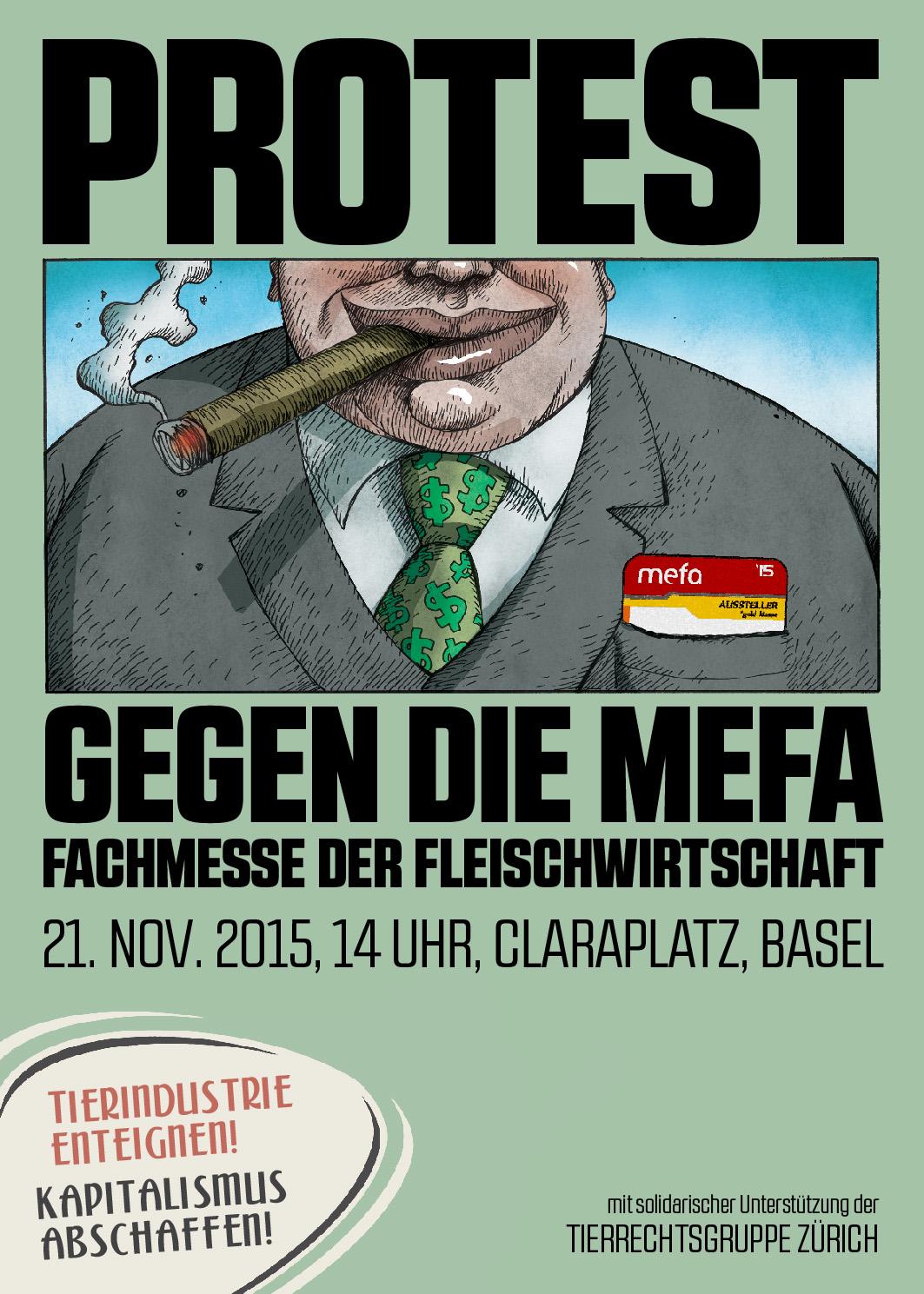 Protest gegen die Mefa
