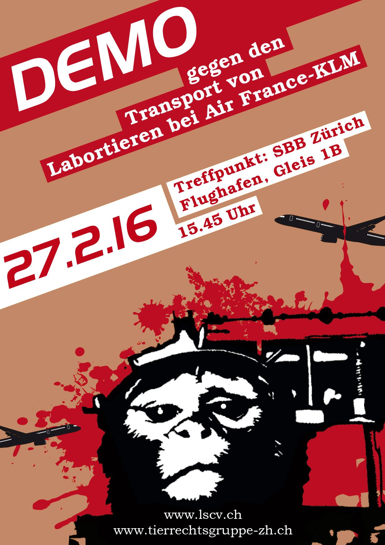 Demo gegen Air France Zürich