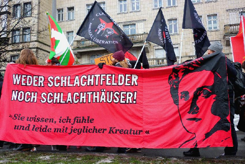 Tierrechtsgruppe Zürich Rosa Luxemburg Demo 2016 Berlin