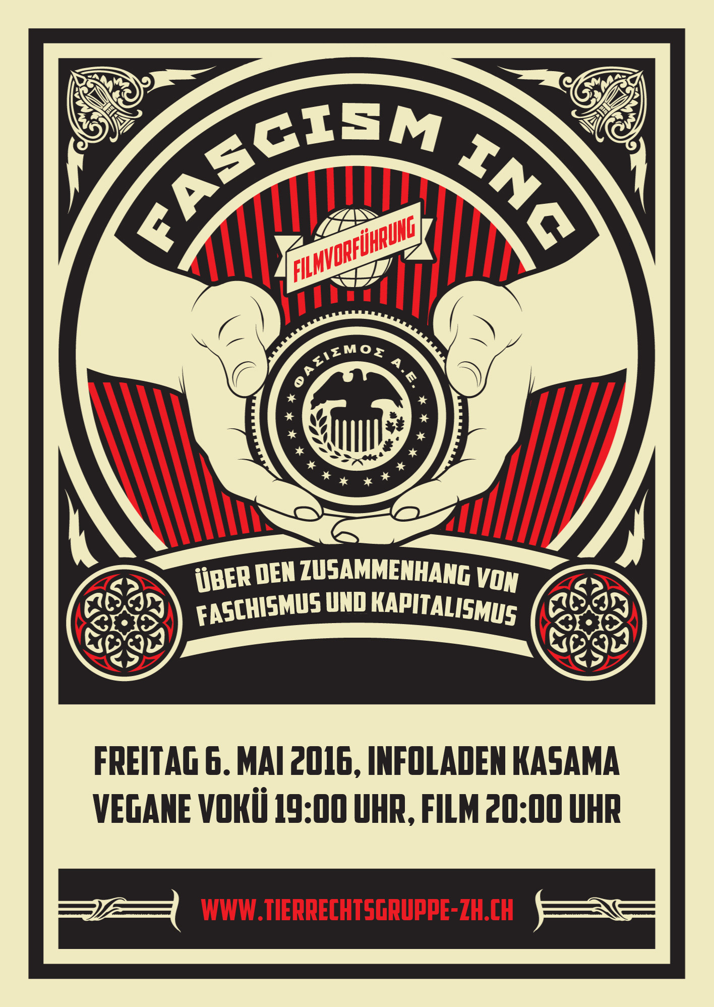 1. Mai 2016 Tierbefreiung Zürich Film Fascism Inc Vegan Cafe Mai
