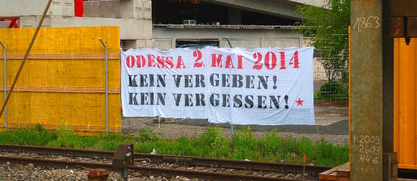 1. Mai Tierrechtsgruppe Zürich 2016 Ukraine Solidarität Odessa