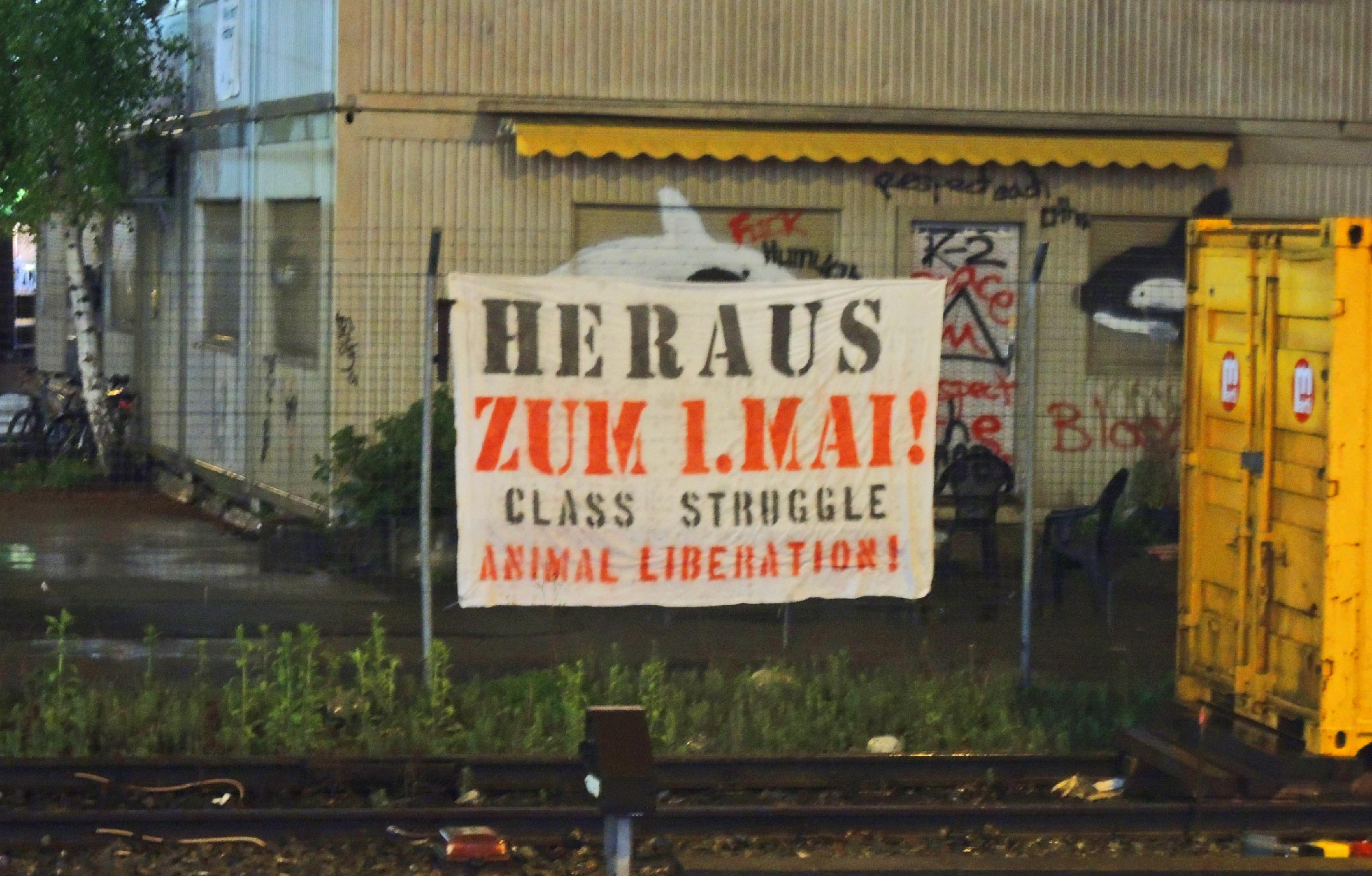 1. Mai Zürich Tiere Tierbfereiung Tierrechte