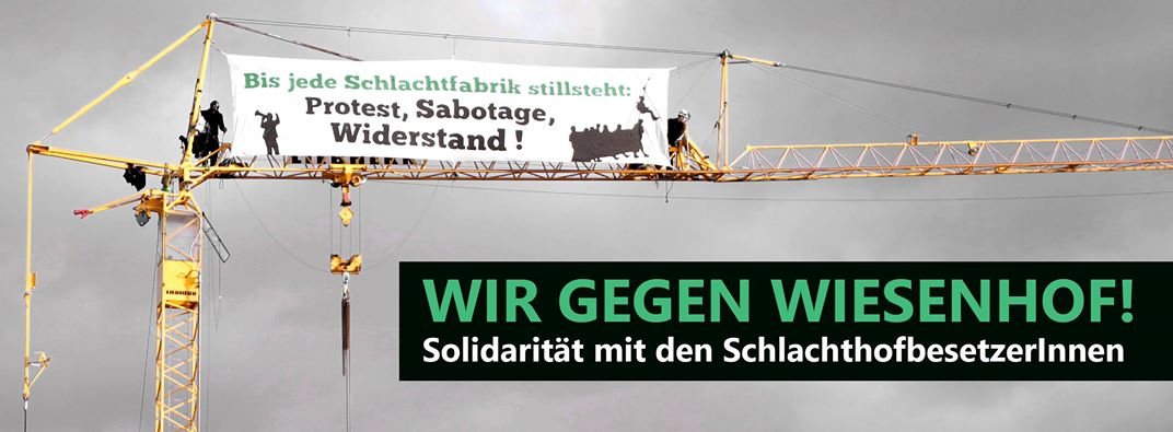 Solidarität kampagne gegen tierfabriken