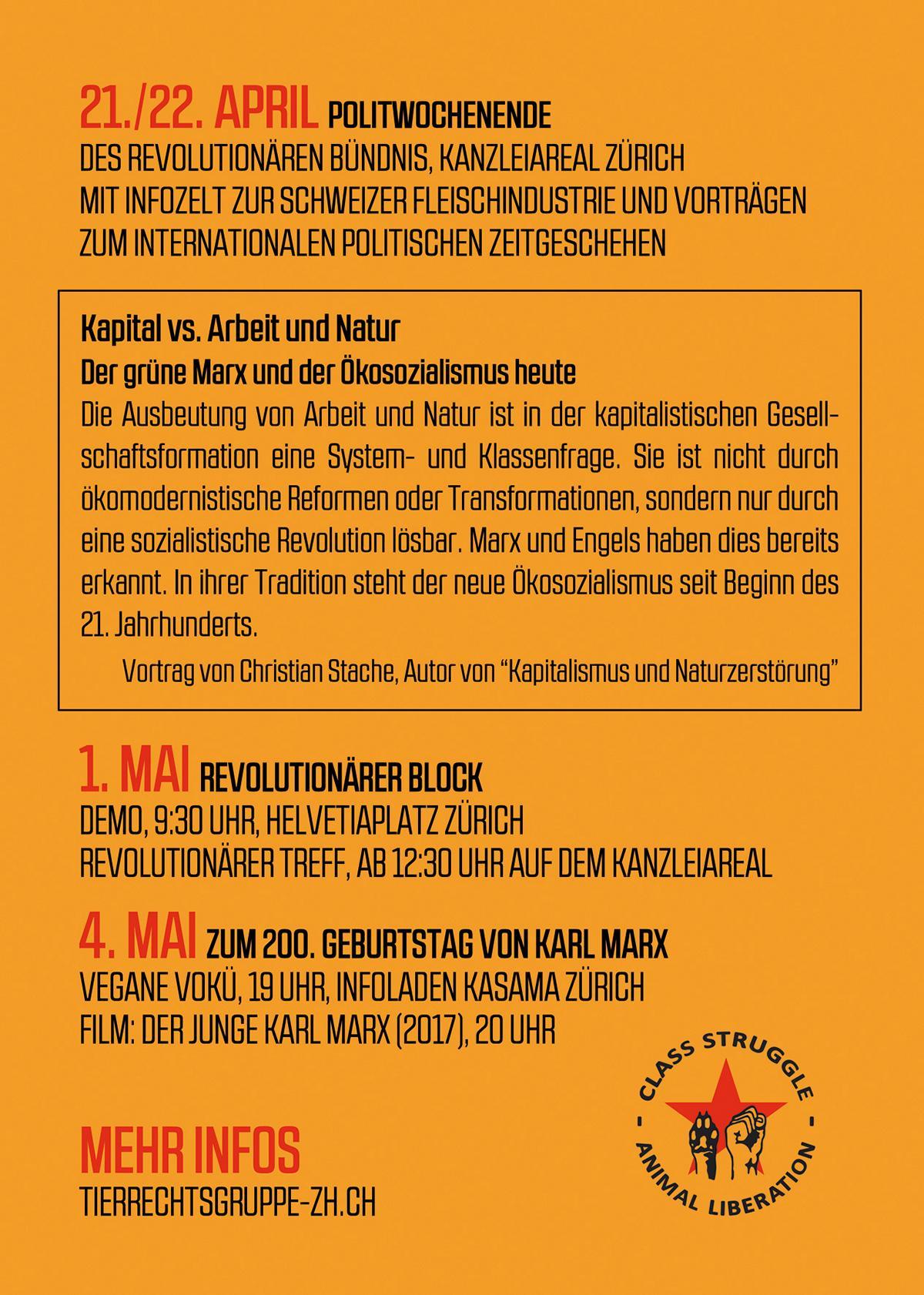1. Mai Tierbefreiung 2018 Zürich
