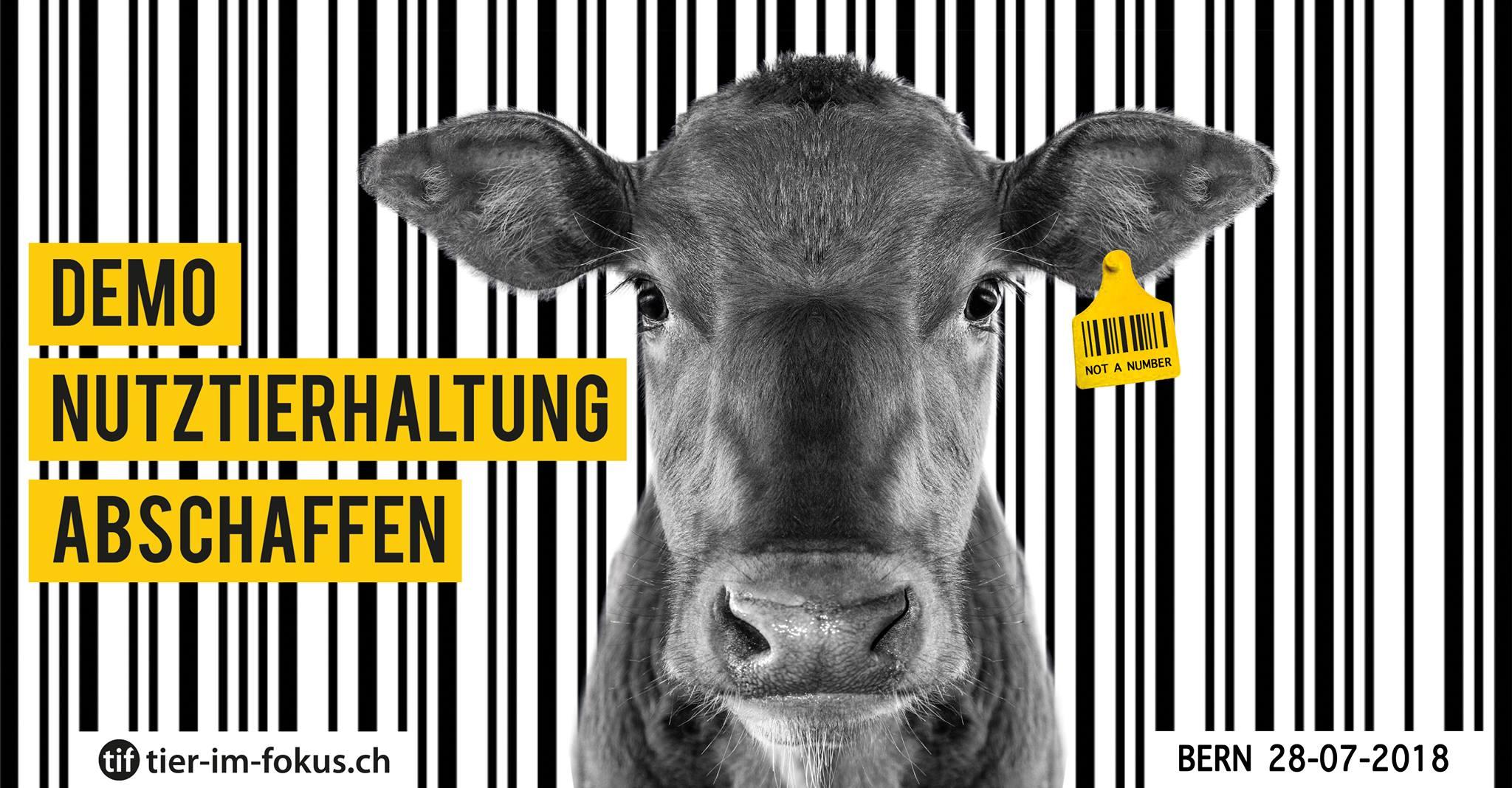 Demo Nutztierhaltung abschaffen Bern 2018