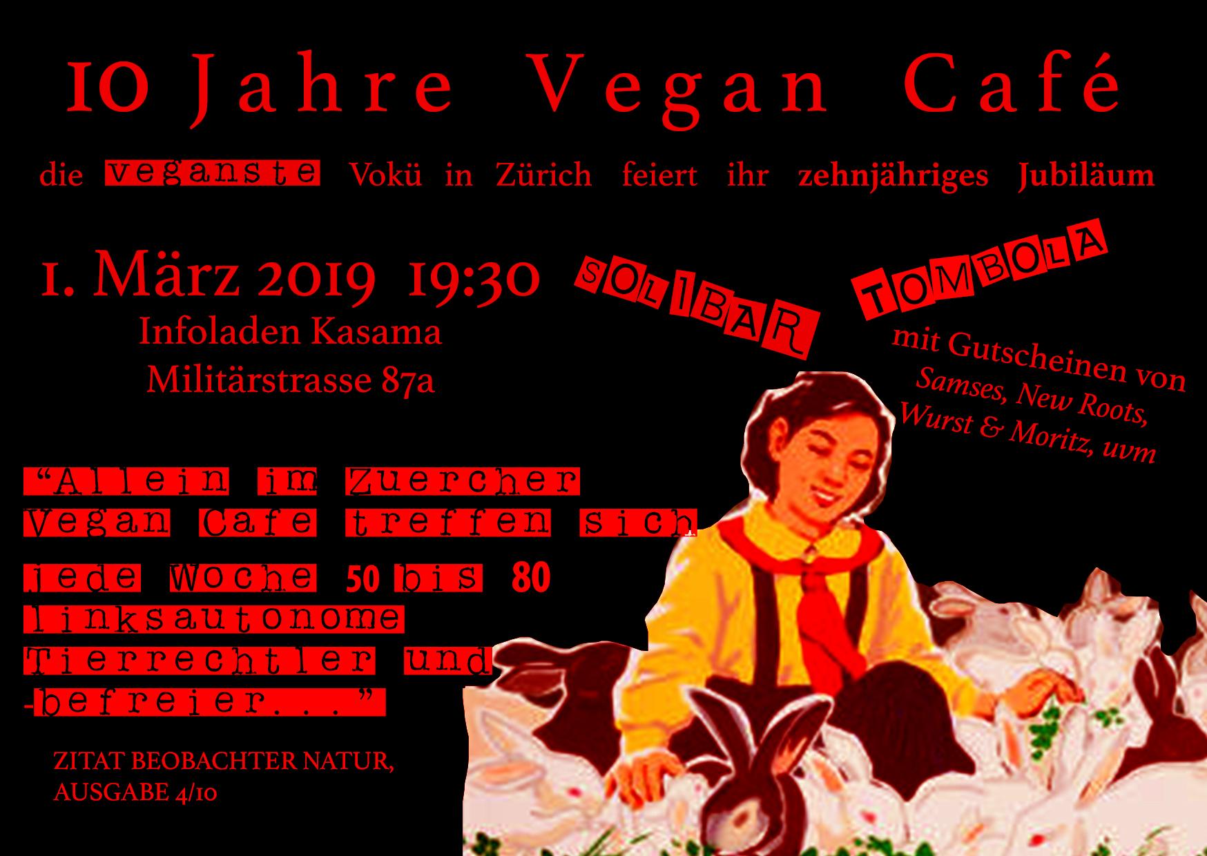 Vegan Cafe Zürich 10 Jahre Kasama