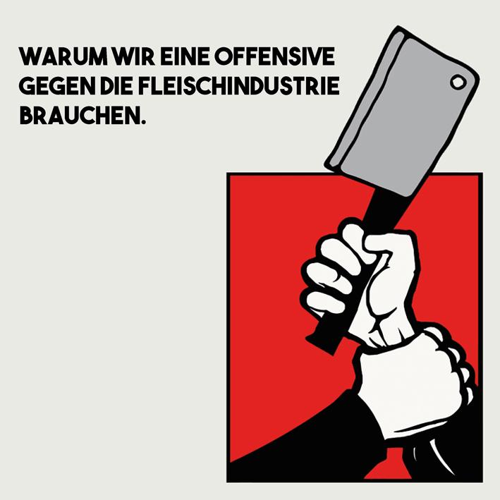 Offensive gegen die Fleischindustrie